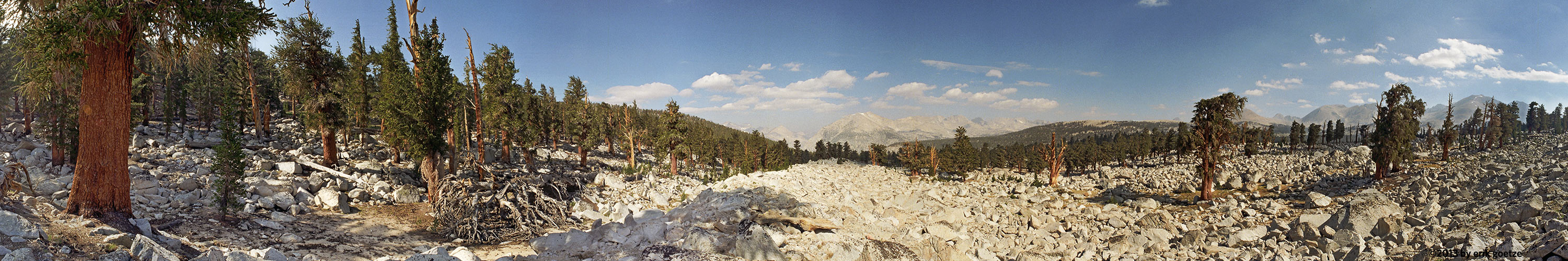 This 360 panorama is from the PCT north of Mt. Whitney