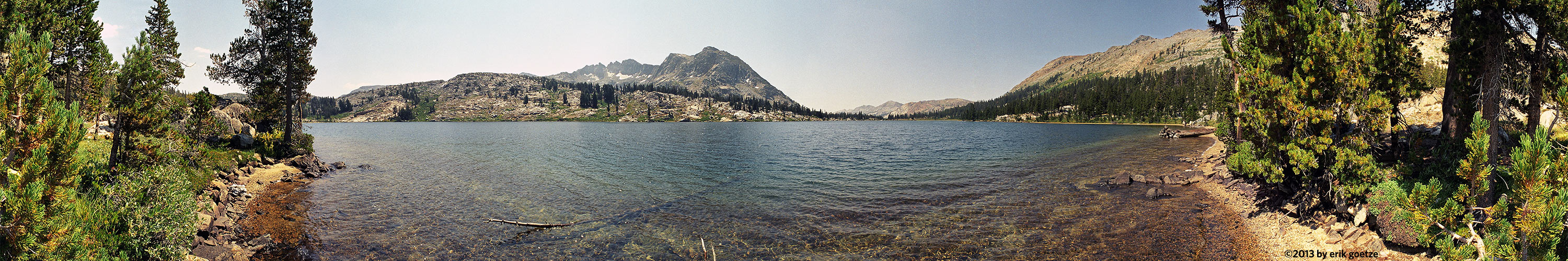 This 360 panorama is from Dorothy Lake, California