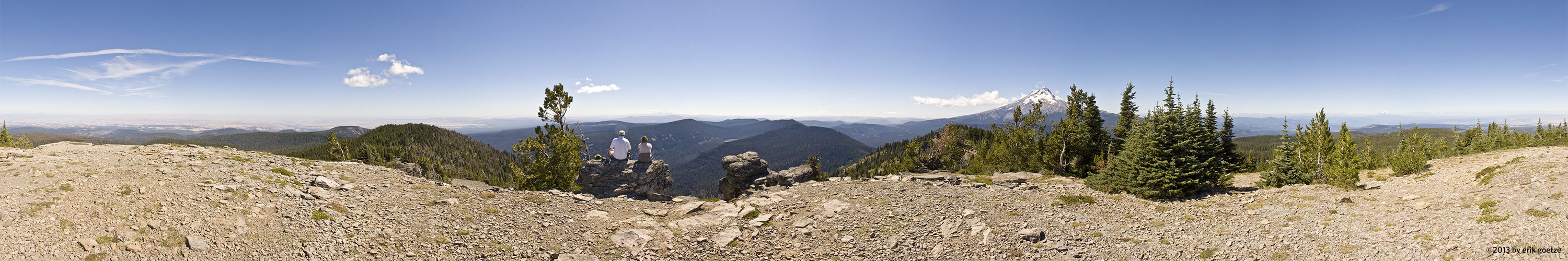 This 360 panorama is from near Mt. Hood, Oregon