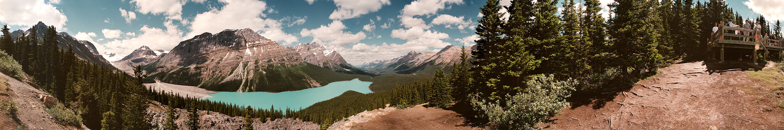 This 360 panorama is from Peyto Lake, Canada