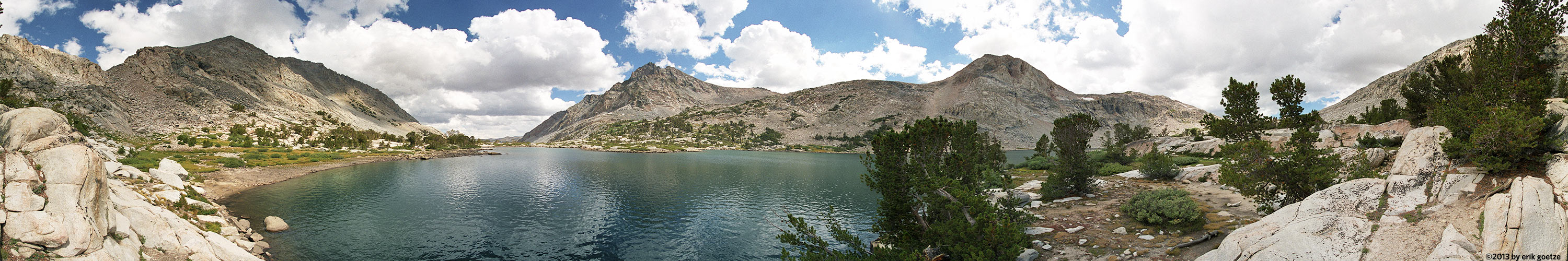 This 360 panorama is from Piute Lake, California?