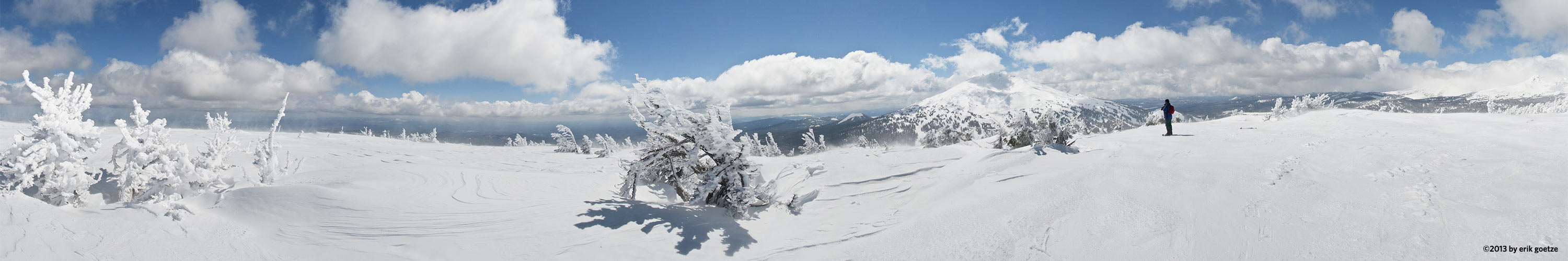 View of Mt. Bachelor from the top of Tumalo Mtn, Oregon